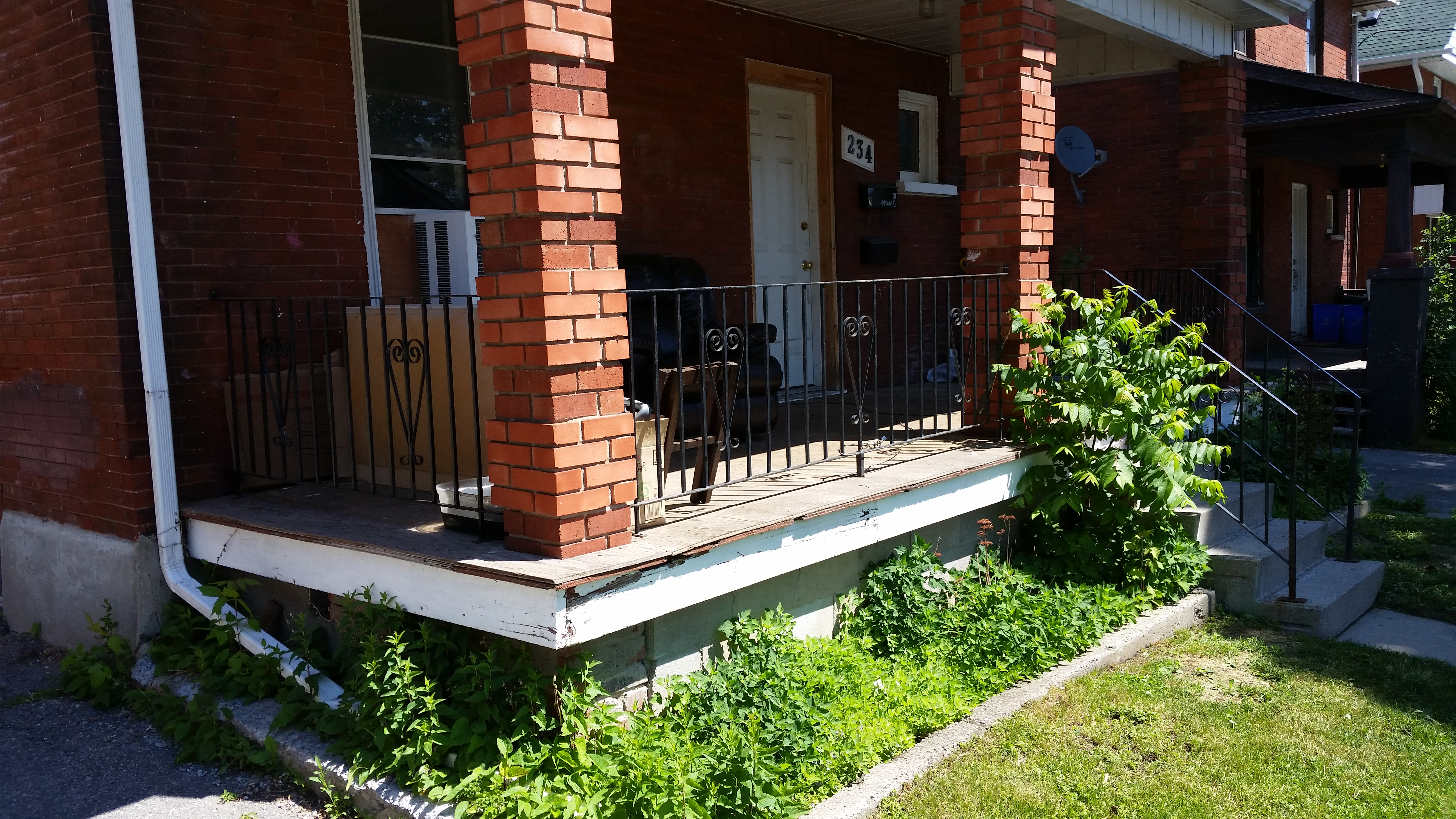 Exterior brick paint and porch remodel rw carr baanklon Image collections