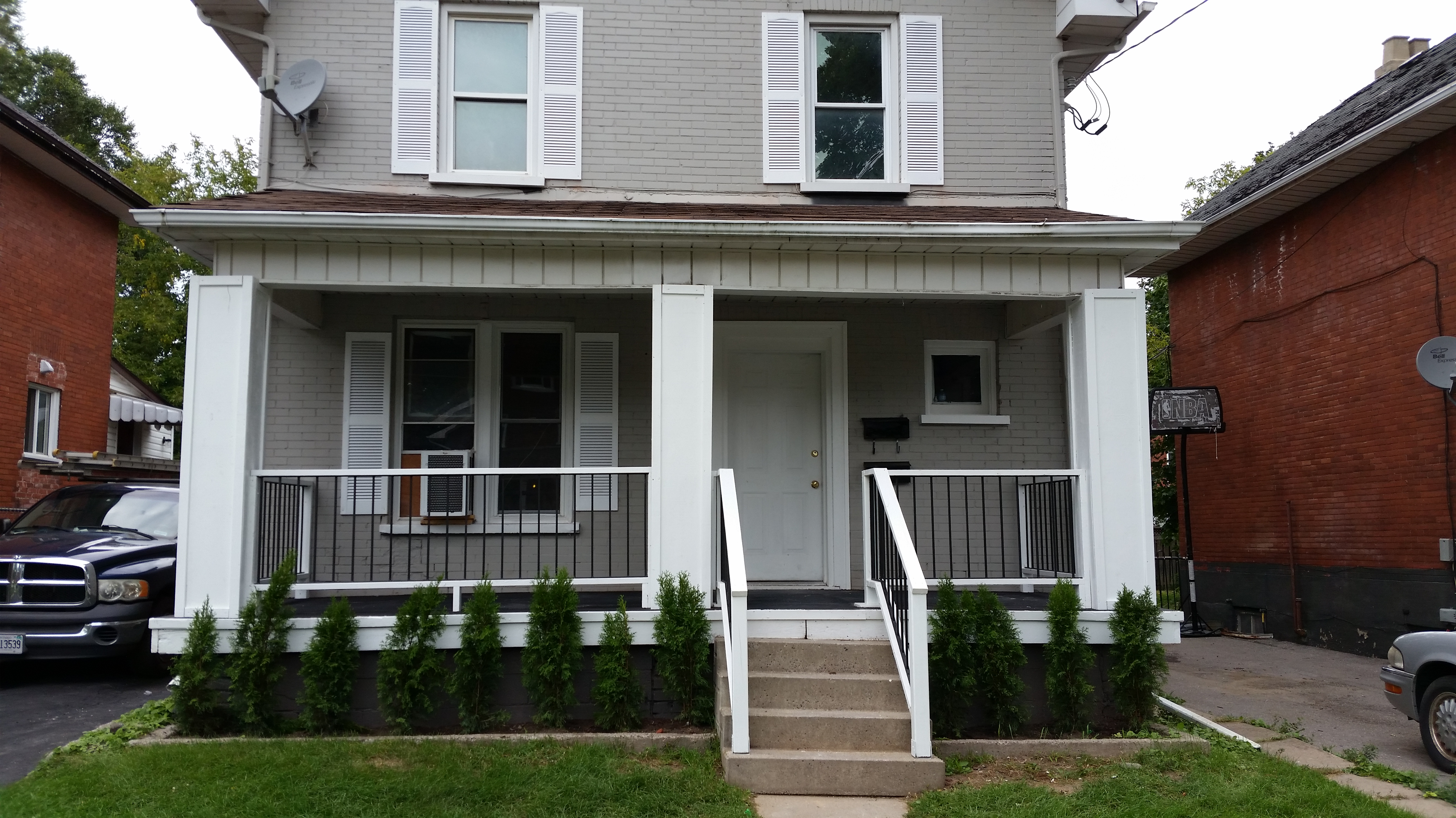 To Match, We Painted The Exterior Brick With A High Quality Masonry Primer,  Followed By A Modern Shade Of Gray. Part 95